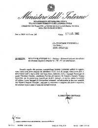 Italy: Ministerial Ratification