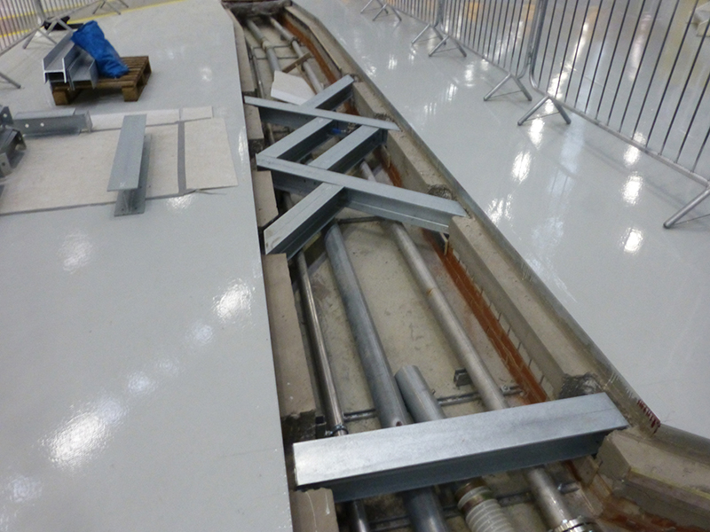 Fibrelite covers needed to be manufactured to work with pre-installed steel supports.