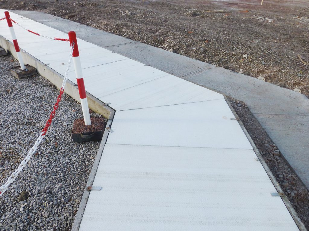 Previously installed low quality concrete covers