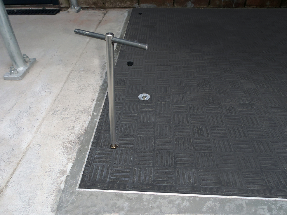 Secured/restrained covers, preventing unauthorised access.