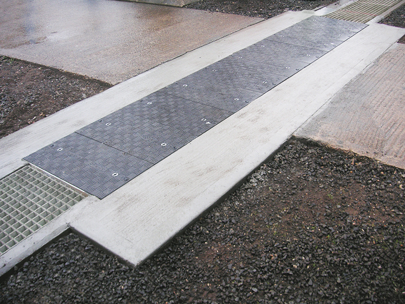 Fibrelite's trench covers are non-metallic, non-conductive and will not spark