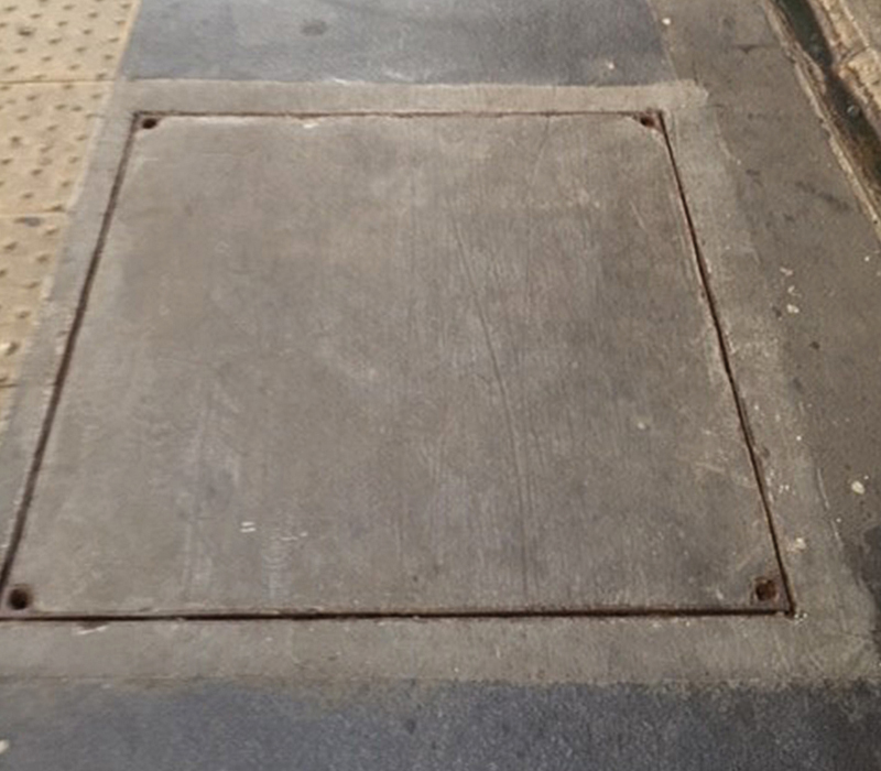 Previously installed, heavy, difficult to lift concrete covers