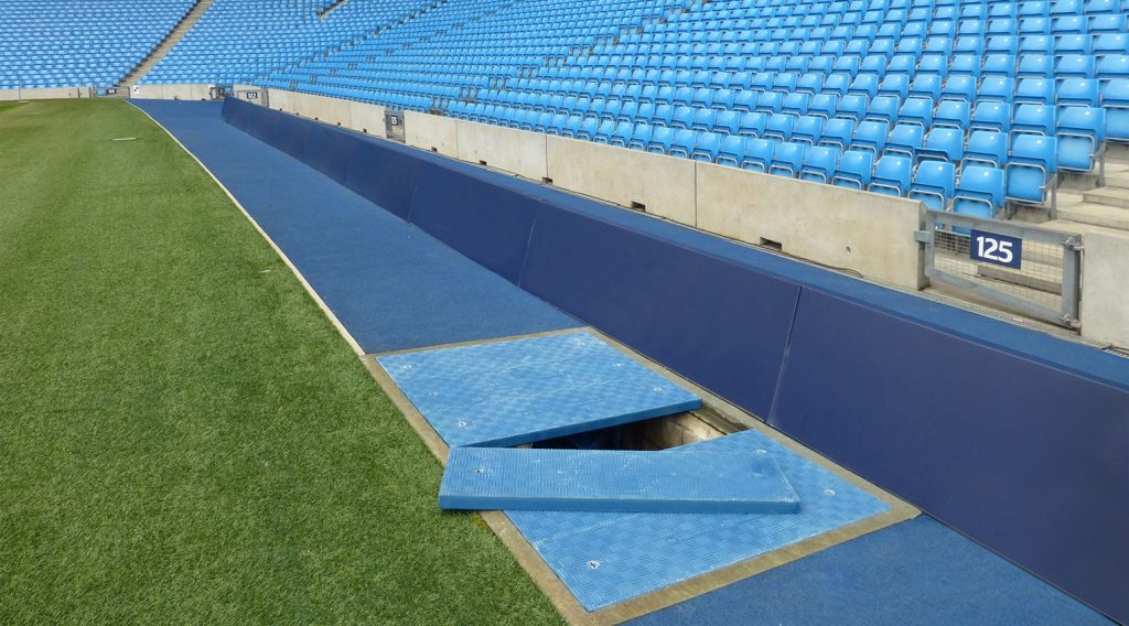 Fibrelite trench covers have an anti-slip surface