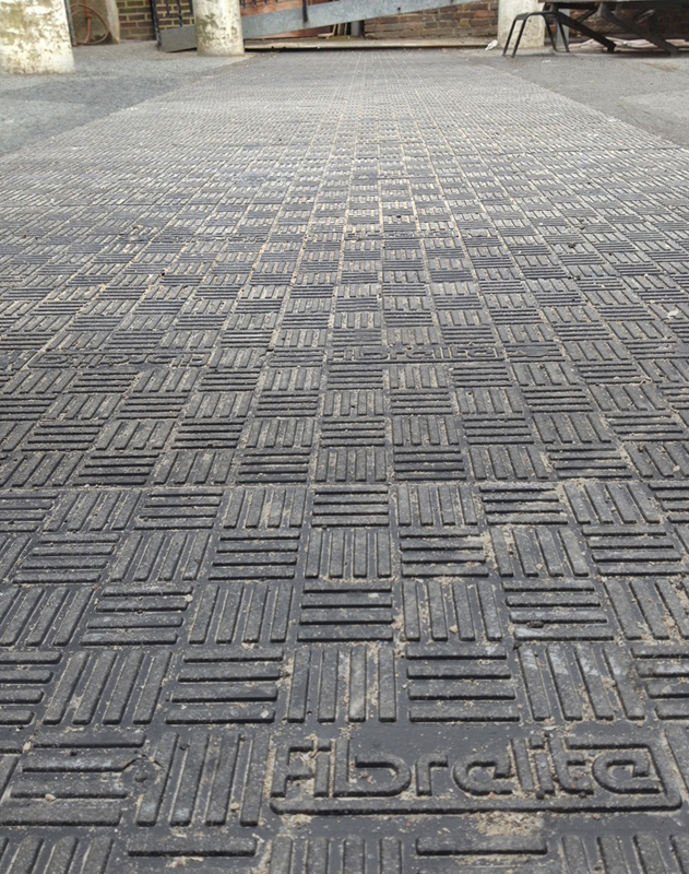 No slips or trips... The Fibrelite tread pattern which offer's anti-slip qualities equivalent to a high grade road