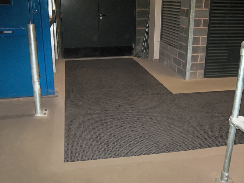 Fibrelite's trench panels can be used to cover large areas and corners.