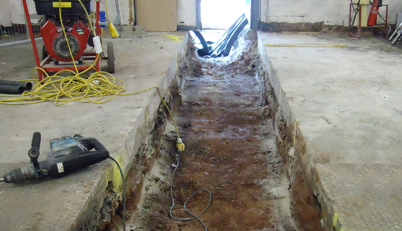 The trenches before Fibrelite install