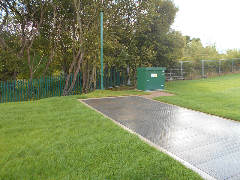 Each Fibrelite cover installed at this site is lockable for added security