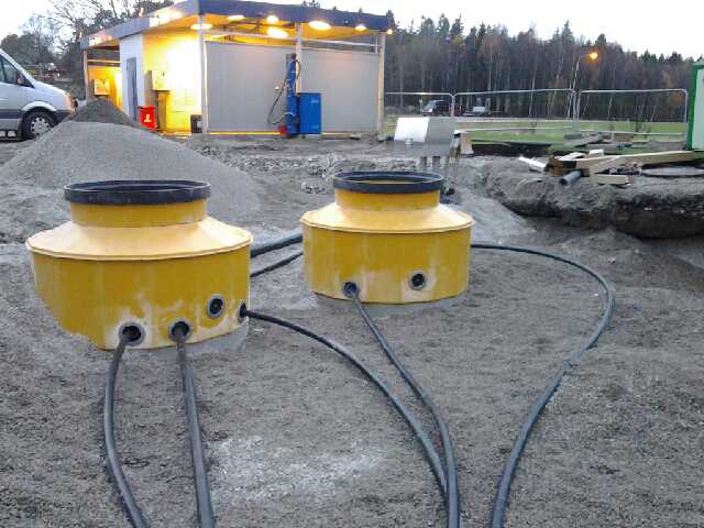 Newly designed 1.7m (S17) diameter tank sumps being installed in Norway