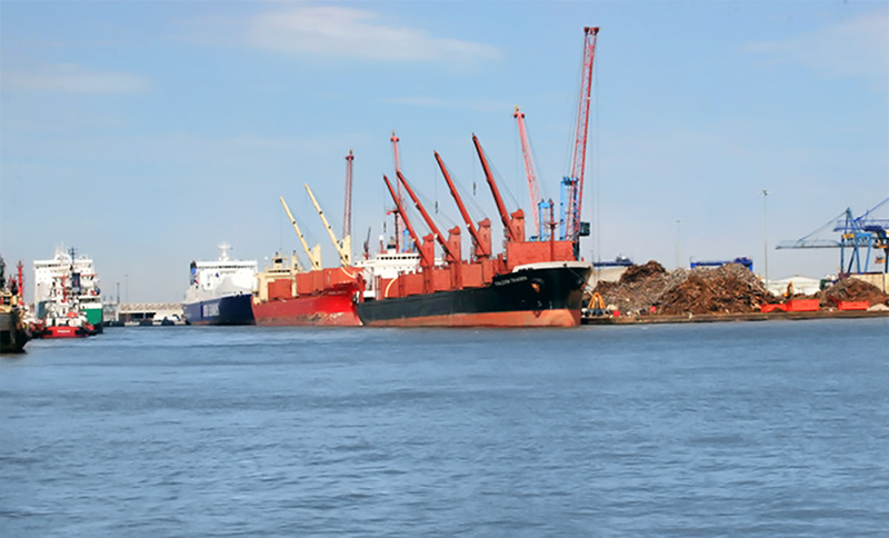 Ports are very busy areas, where safety and efficiency are key. Image Roger Geach