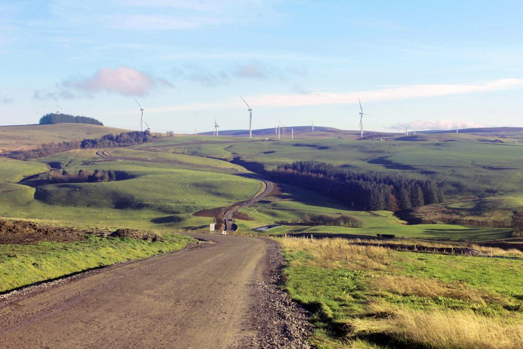 Garreg Lwyd wind farm under construction