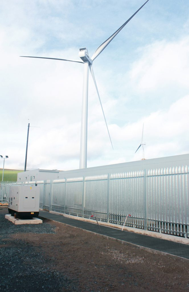 Fibrelite D400 trench covers on wind farm sub-station