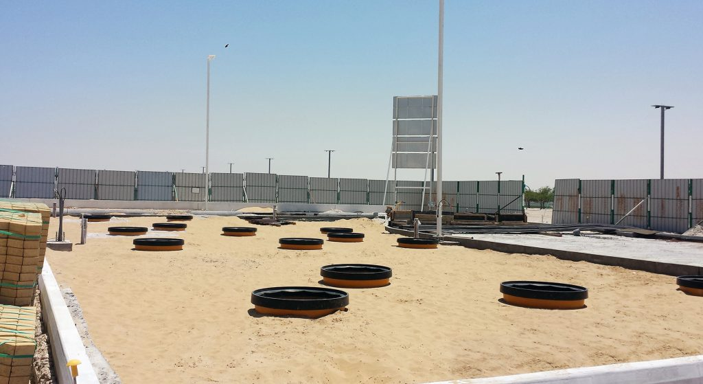 Fibrelite tank and dispenser sumps specified by Qatari oil company