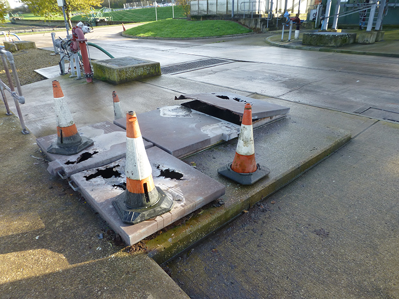 The previously installed dangerous and corroded metal covers