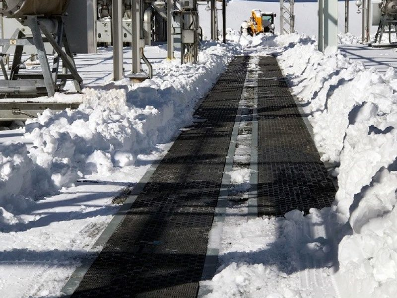 Road crossing trench covers installed at leading US utility provider's substation