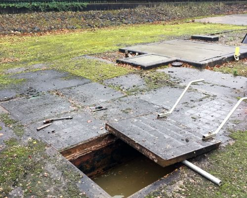 The removal and replacement of concrete trench covers was very time-consuming