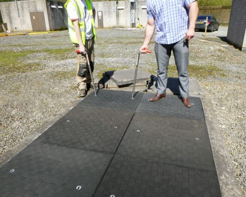 Fibrelite manufactured trench covers which were lightweight and maintenance-free