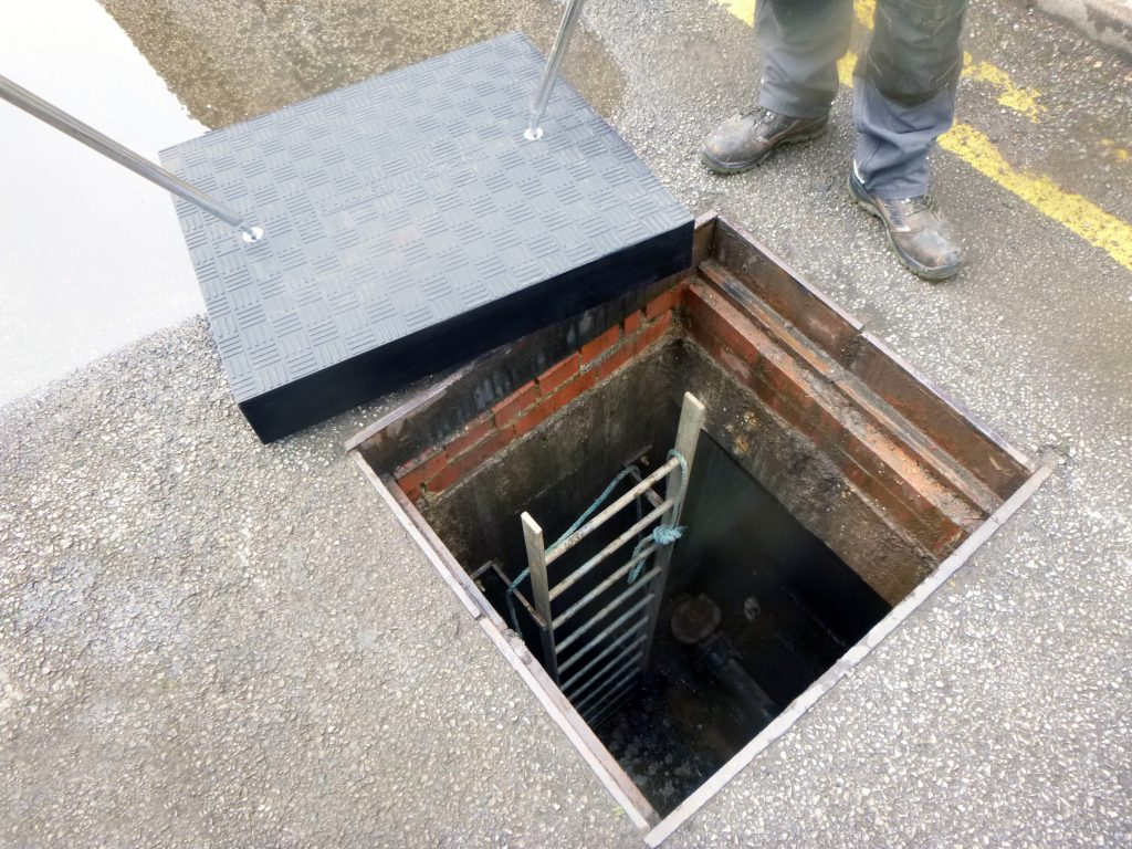 The covers provided access to underground water valves