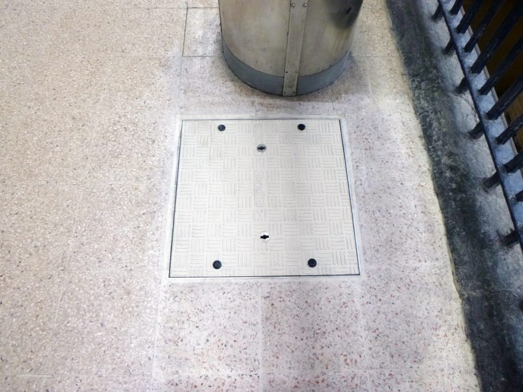 Fibrelite supplied covers which matched the base colour of the tiles