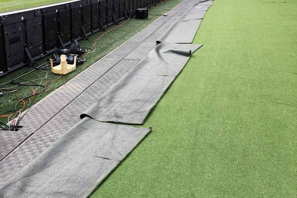 Bespoke Fibrelite GRP trench covers installed over electrical cabling trenches