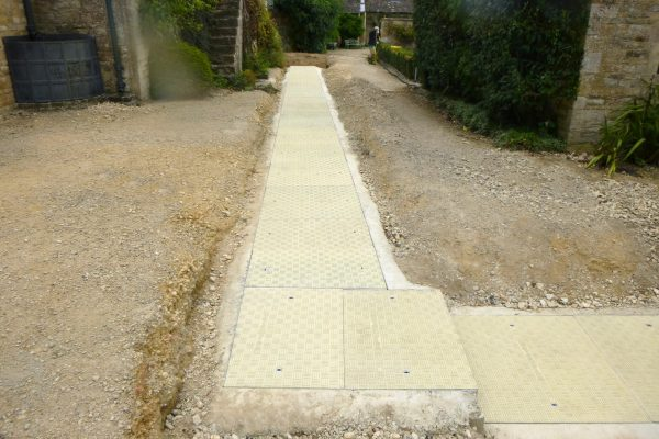 Fibrelite engineered and manufactured bespoke GRP trench covers for this countryside manor