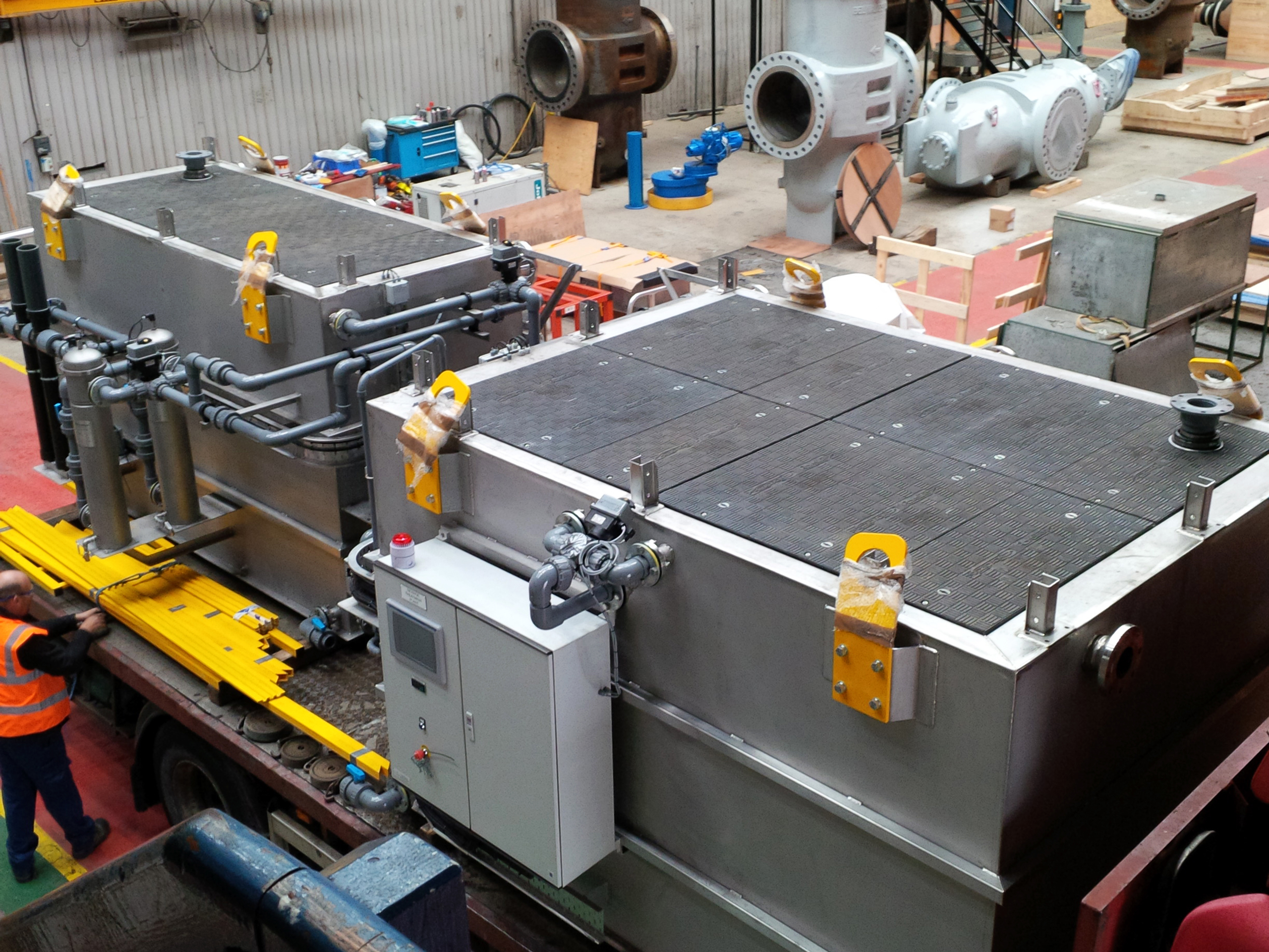 Custom Fibrelite covers have been installed in water treatment facilities around the globe – even in Antarctica (pictured)