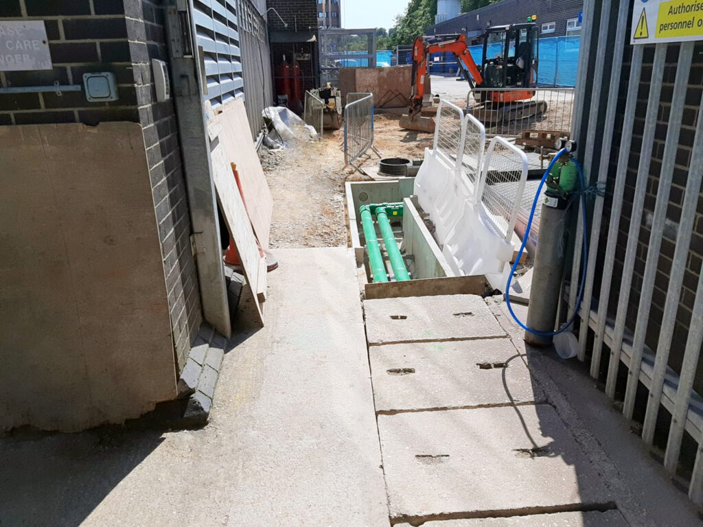Previously existing concrete access covers were heavy and difficult to remove and replace