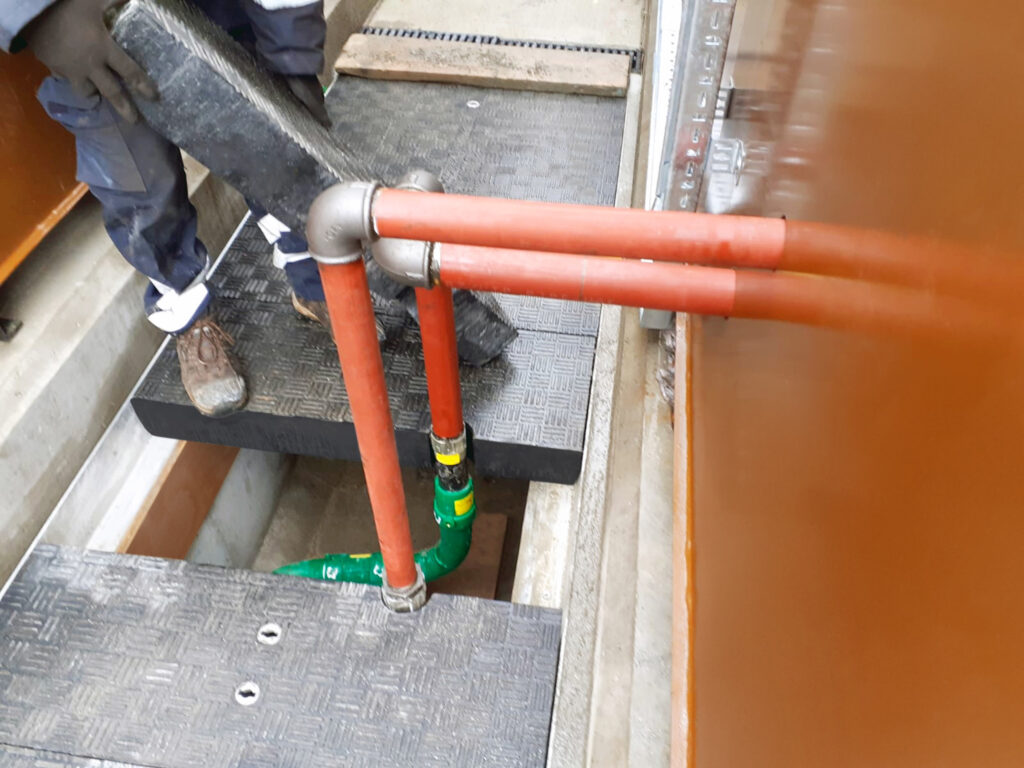 Apertures were required in some covers to accommodate pipework connecting from within the trench to above ground networks