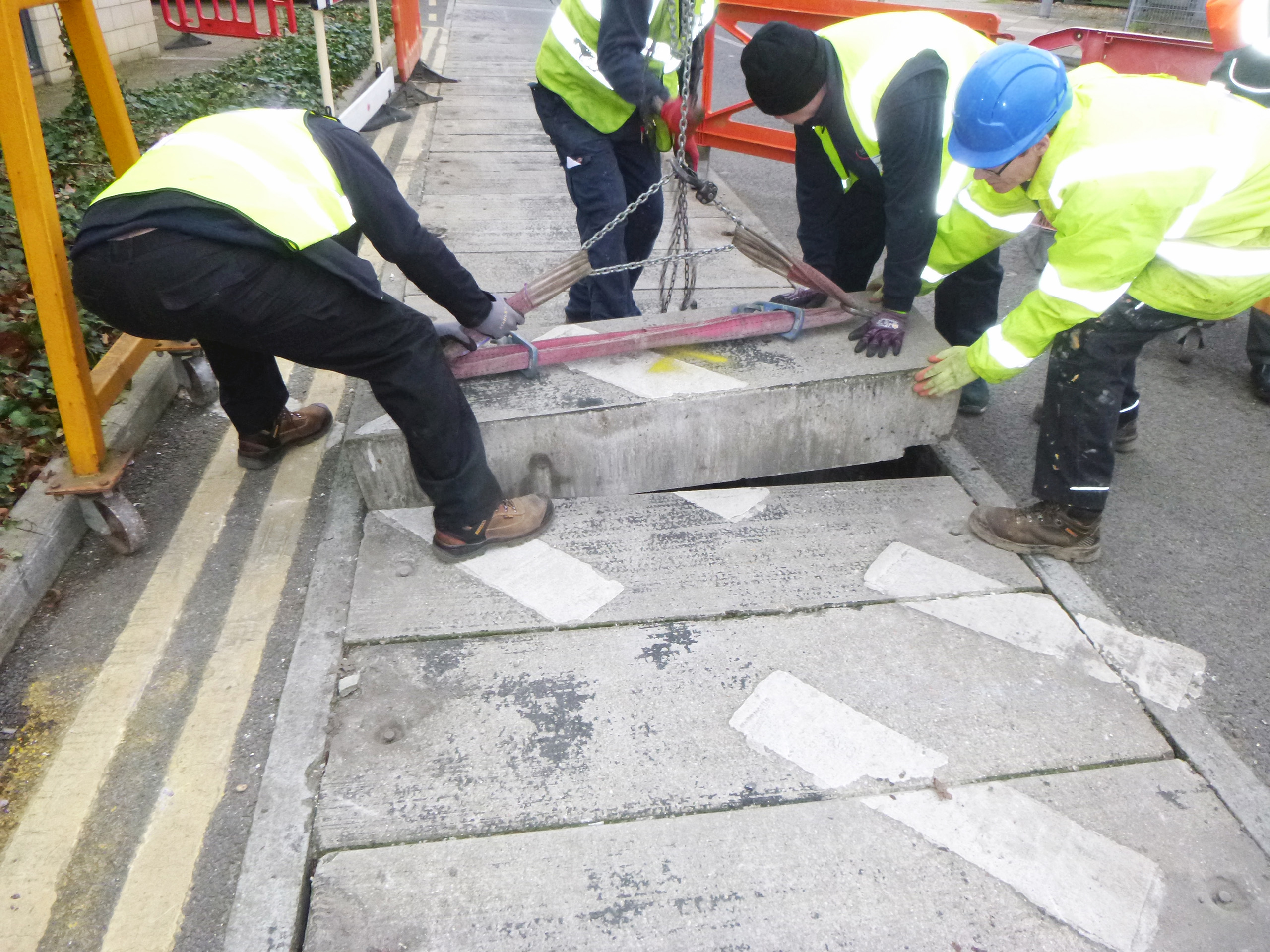 Concrete slab covers can weigh as much as five times the weight of an equivalent size Fibrelite GRP composite trough cover